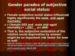gender paradox of subjective social status