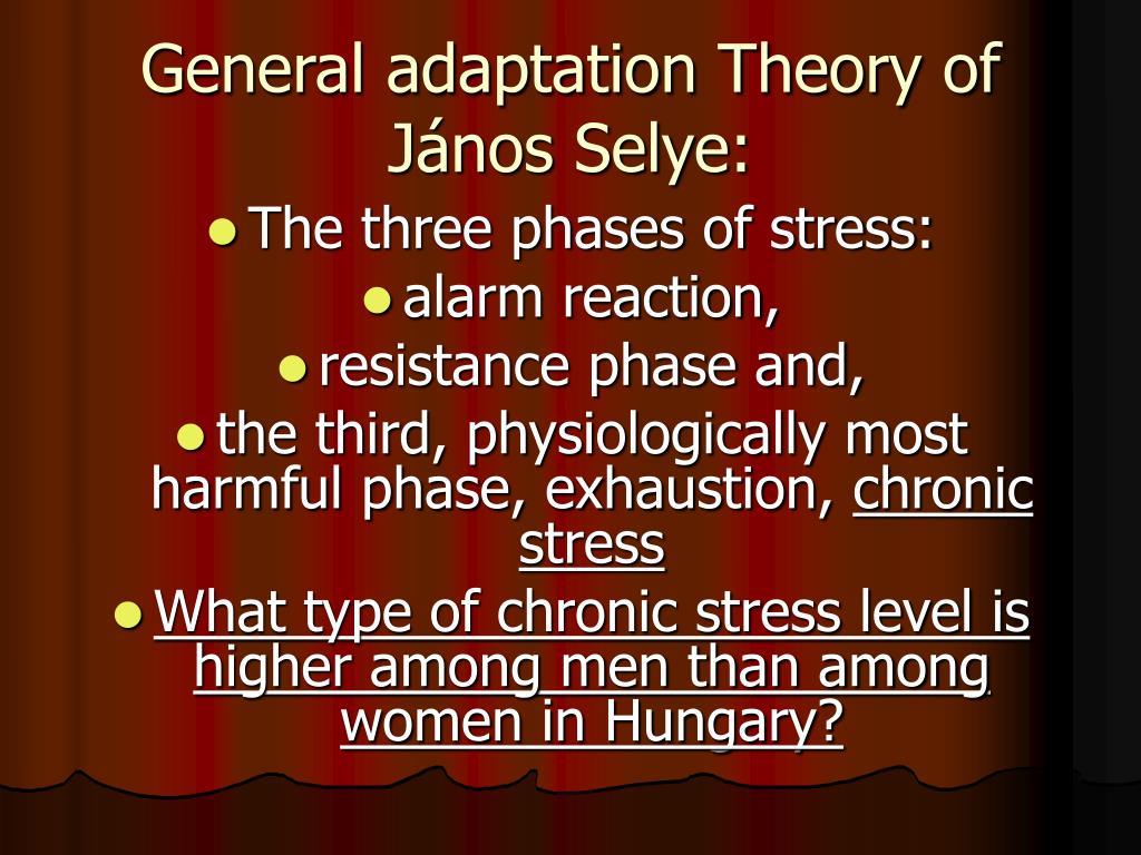General adaptation Theory of János Selye: