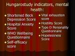 hungarostudy indicators mental health