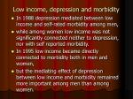 low income depression and morbidity