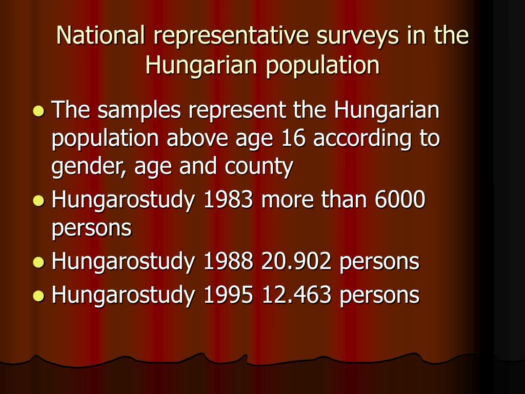 National representative surveys in the Hungarian population