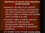 significance of chronic stress depressive symptomatology
