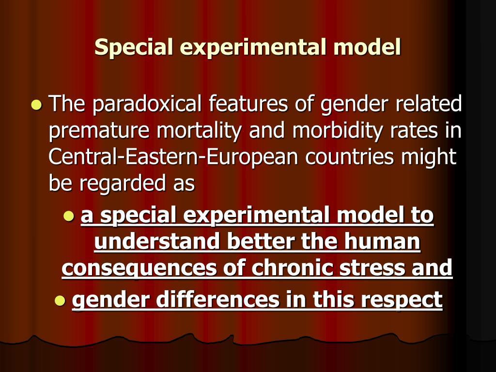 Special experimental model