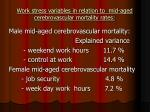 work stress variables in relation to mid aged cerebrovascular mortality rates