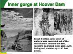 inner gorge at hoover dam