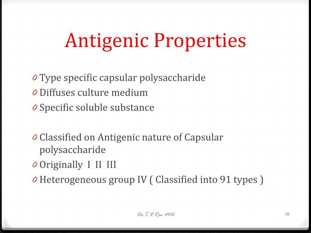 Antigenic Properties