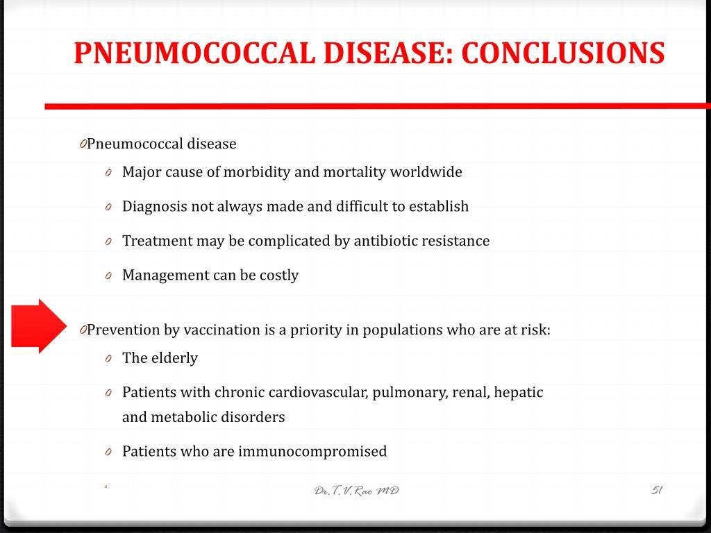 PNEUMOCOCCAL DISEASE: CONCLUSIONS