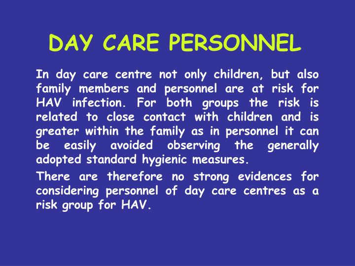 DAY CARE PERSONNEL