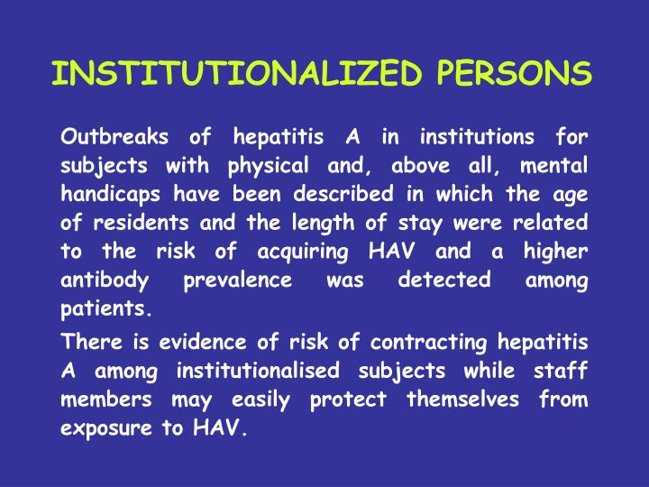 INSTITUTIONALIZED PERSONS