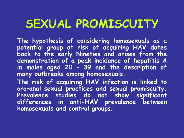 SEXUAL PROMISCUITY