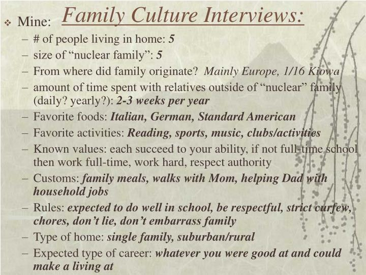 Family culture interviews1