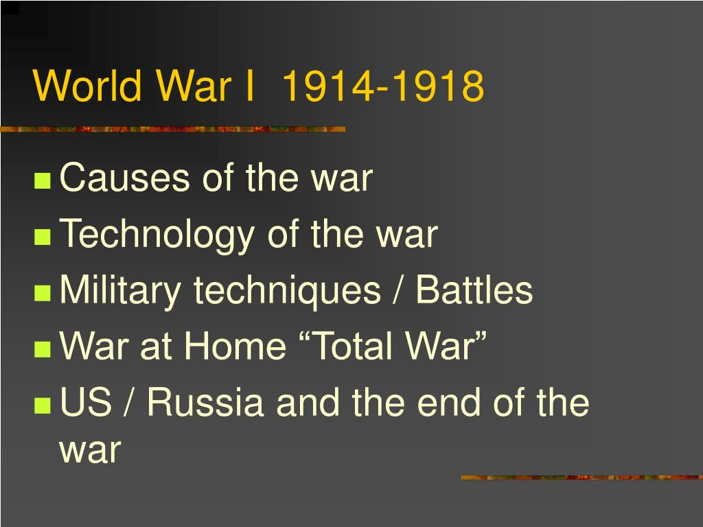 world war i 1914 1918 l.
