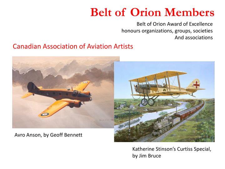 Belt of Orion Members