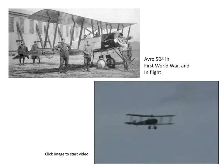 Avro 504 in