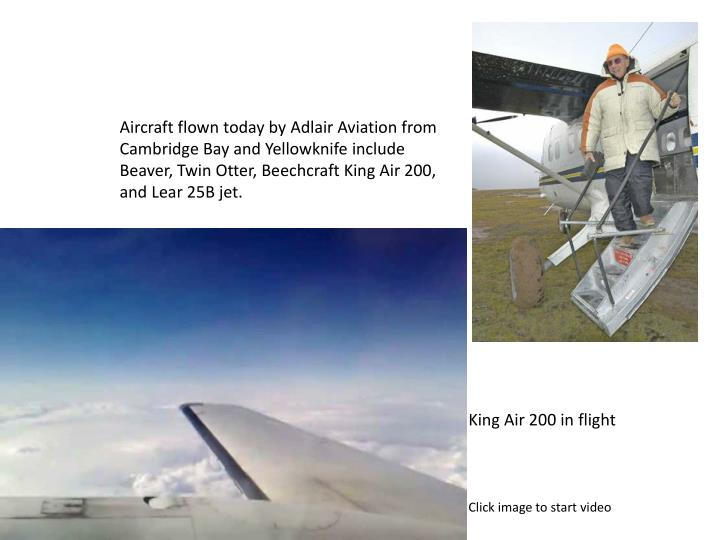 Aircraft flown today by Adlair Aviation from