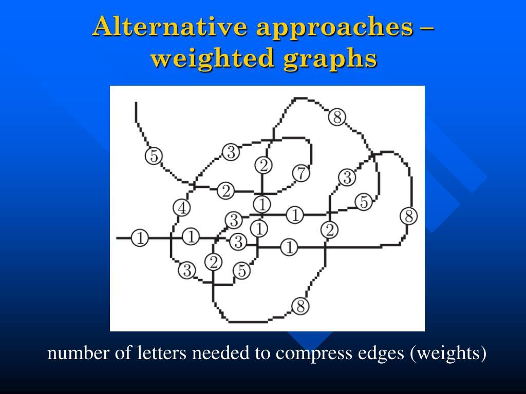 Alternative approaches –