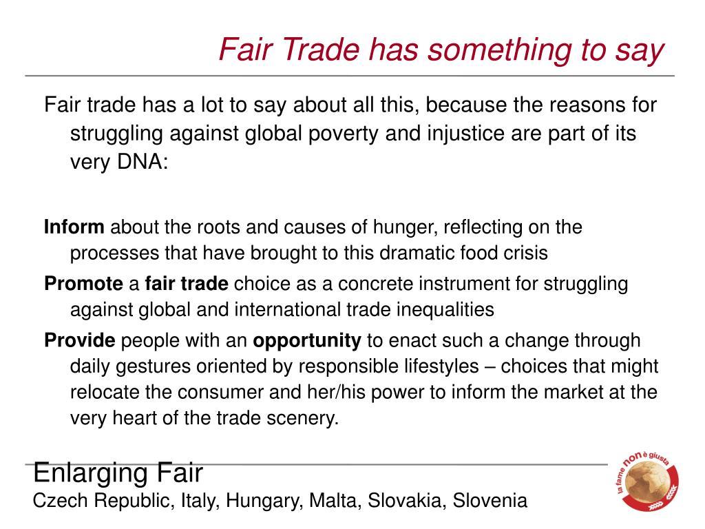 Fair Trade has something to say