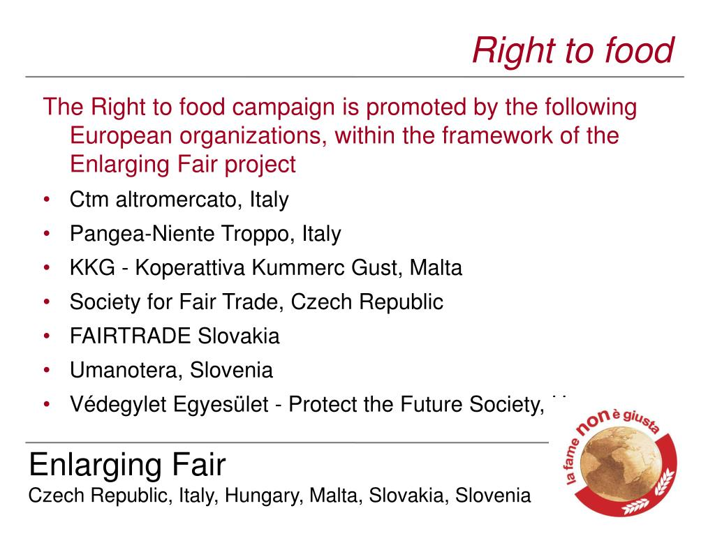 Right to food