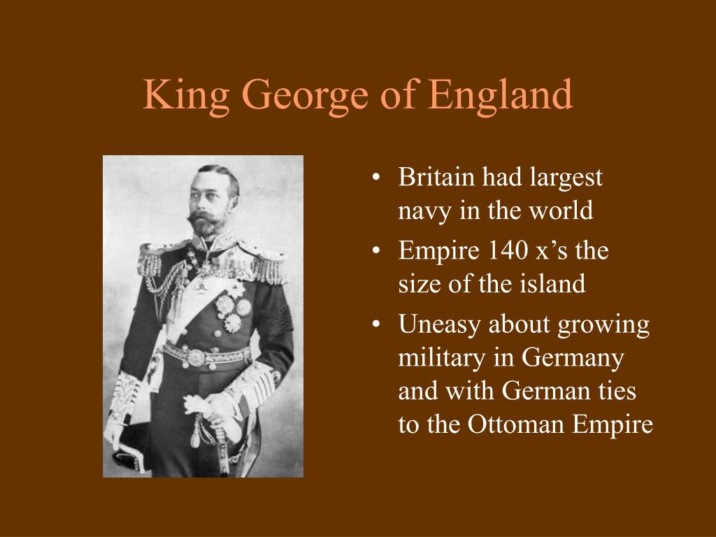 King George of England