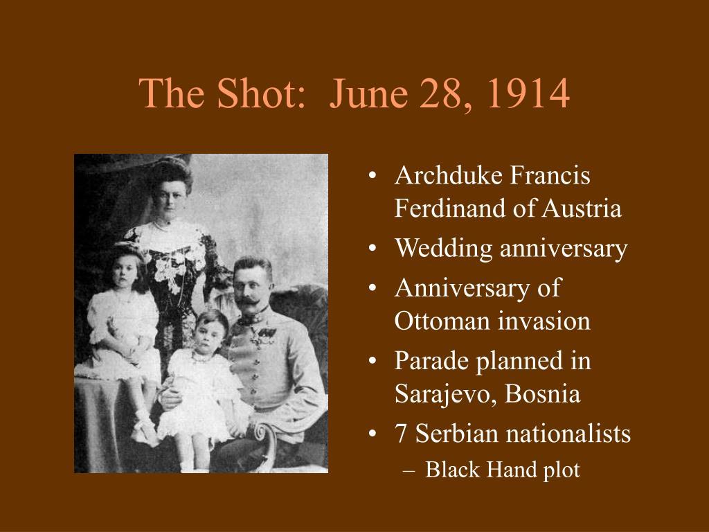 The Shot:  June 28, 1914