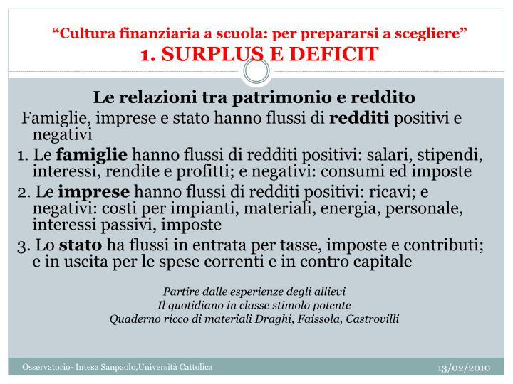 """""""Cultura finanziaria a scuola: per prepararsi a scegliere"""""""