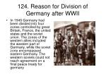 124 reason for division of germany after wwii