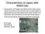 characteristics of japan after wwii 126
