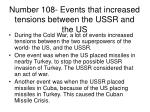 number 108 events that increased tensions between the ussr and the us