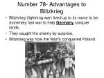 number 78 advantages to blitzkrieg