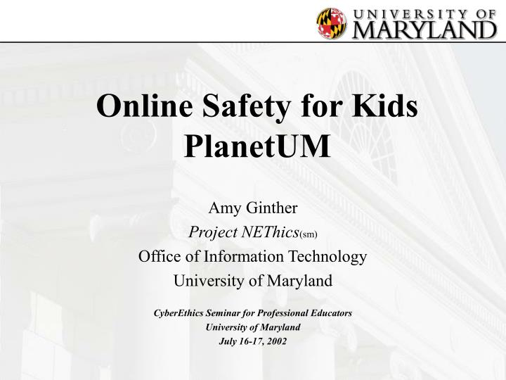 Online safety for kids planetum