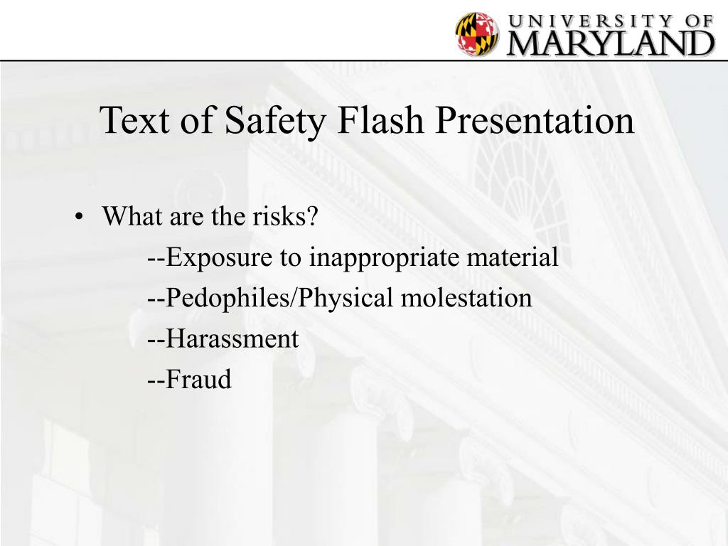 Text of Safety Flash Presentation