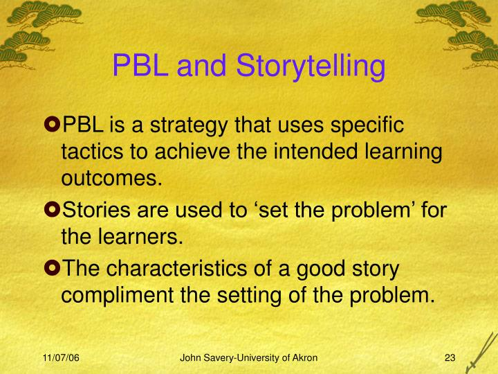 PBL and Storytelling