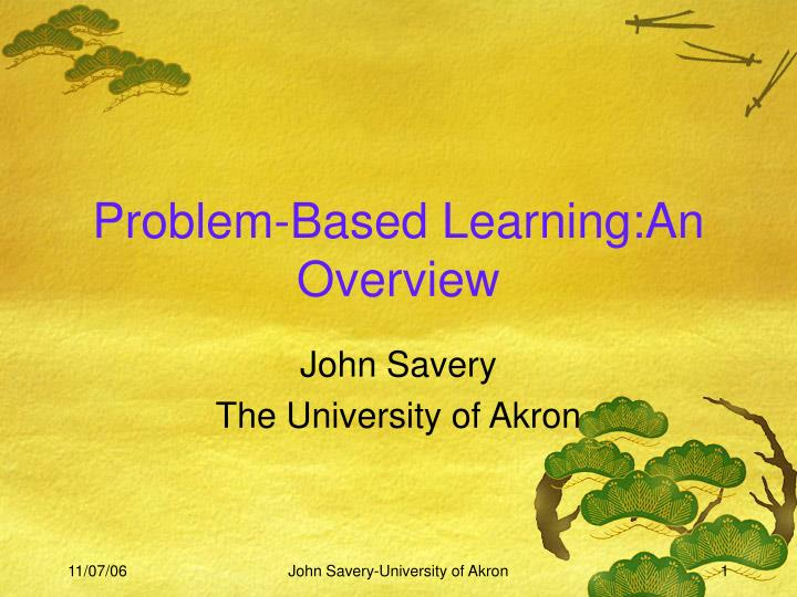 Problem based learning an overview