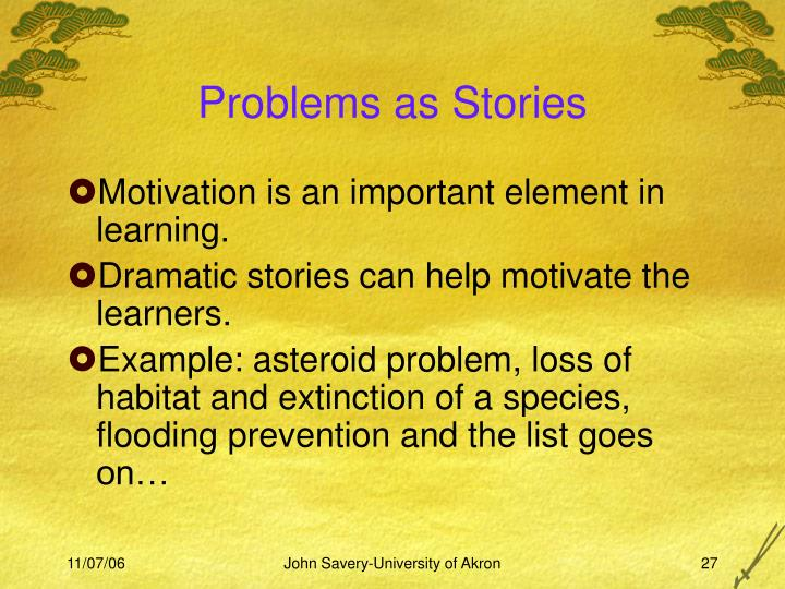 Problems as Stories