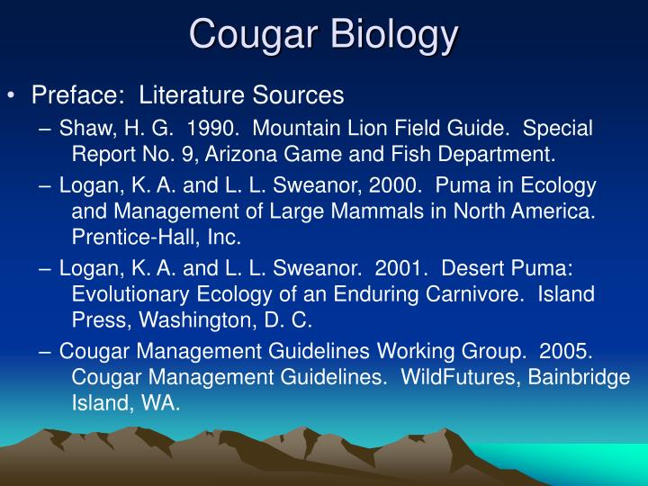 Cougar biology3