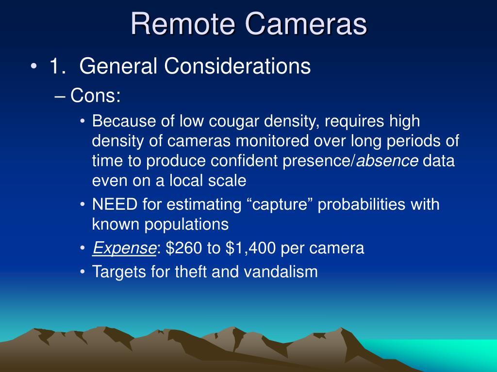 Remote Cameras