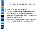 important test dates