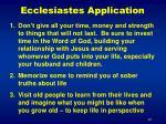 ecclesiastes application