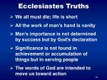 ecclesiastes truths