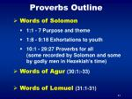 proverbs outline