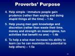 proverbs purpose1