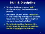 skill discipline