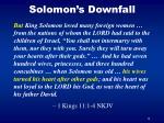 solomon s downfall