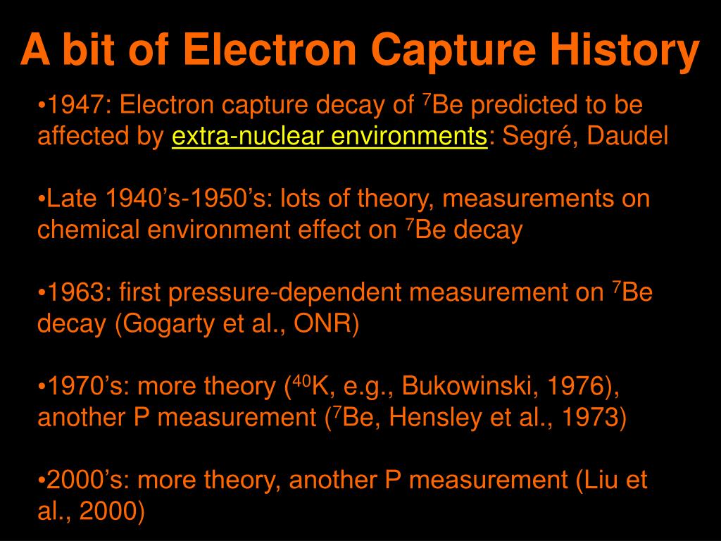 A bit of Electron Capture History