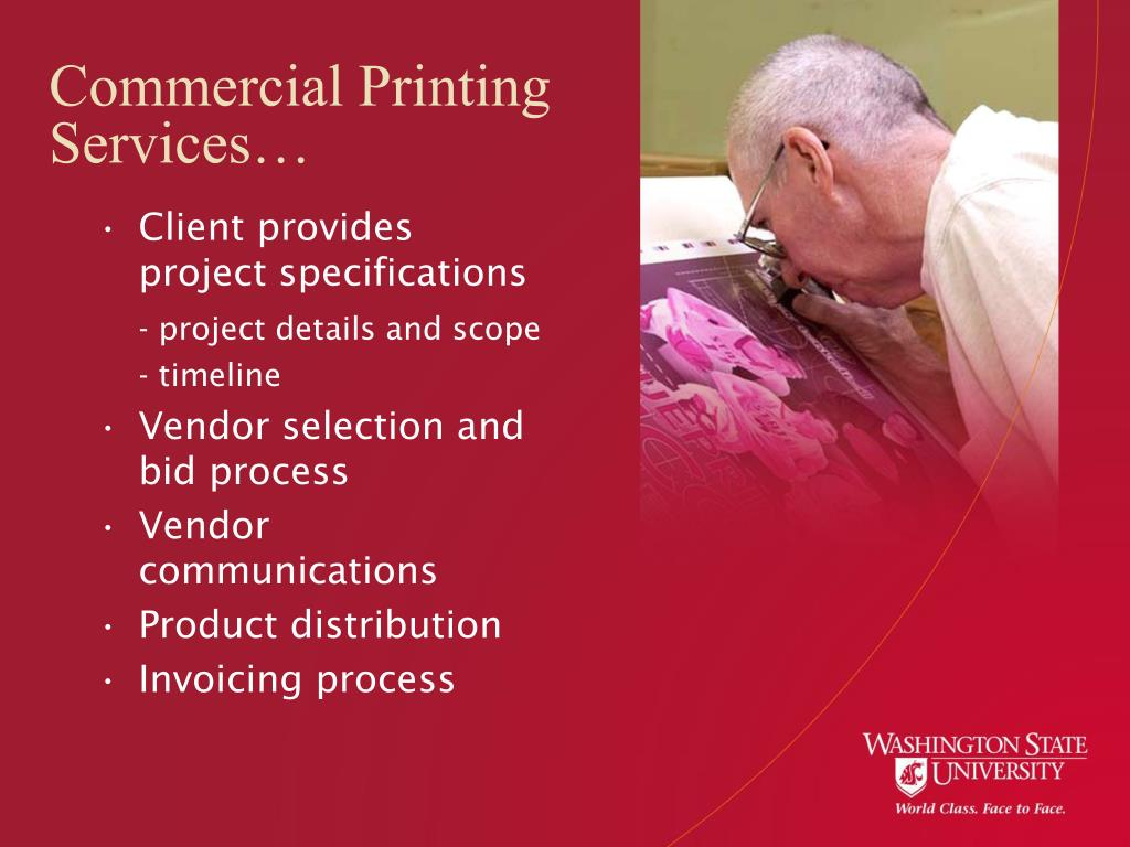 Commercial Printing Services…