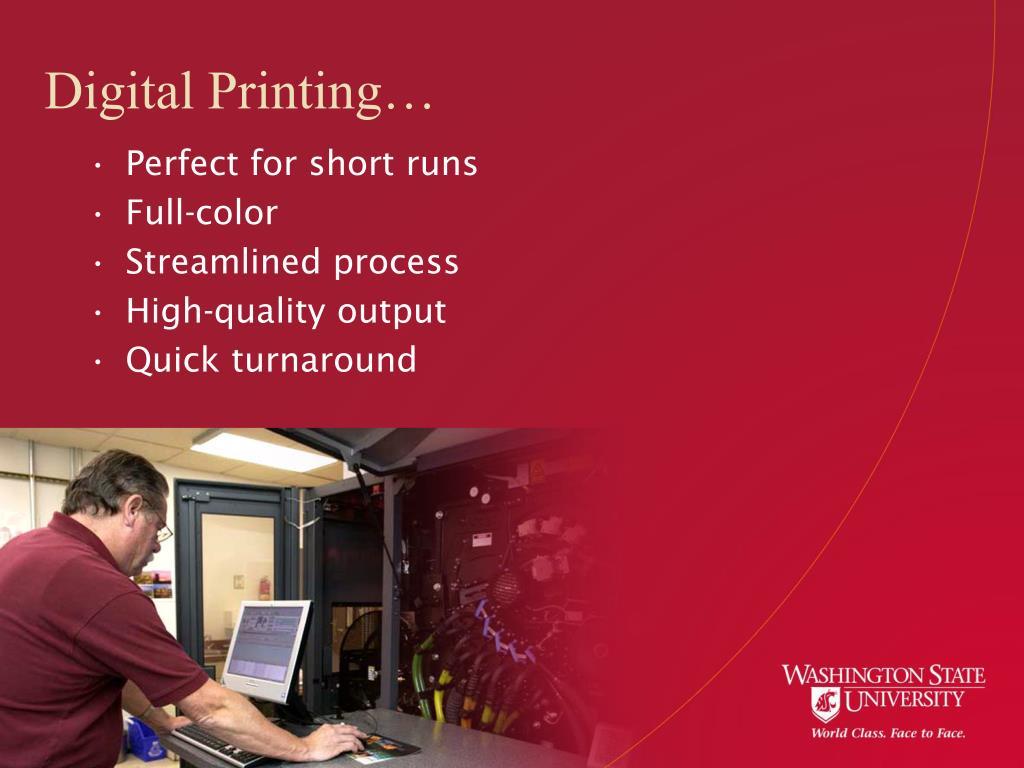 Digital Printing…