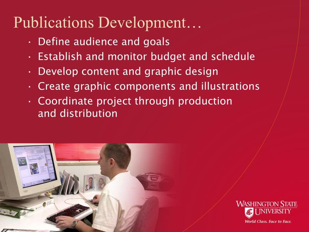 Publications Development…