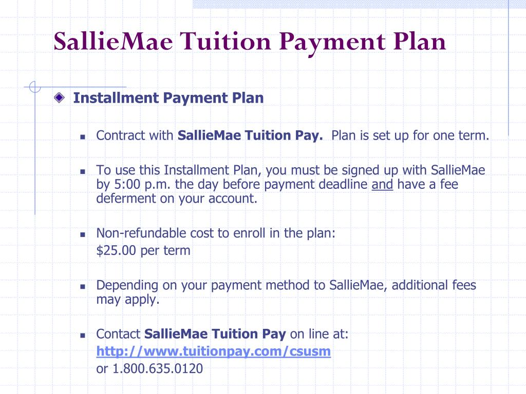 SallieMae Tuition Payment Plan