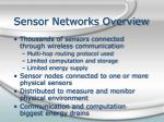 sensor networks overview
