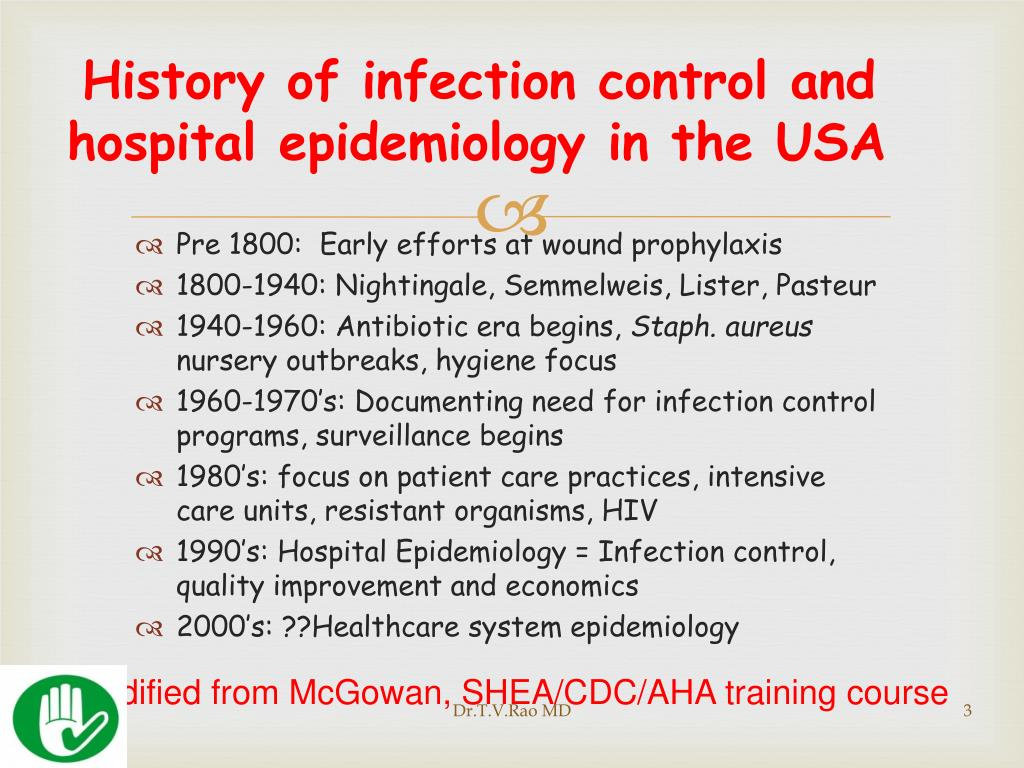 History of infection control and hospital epidemiology in the USA